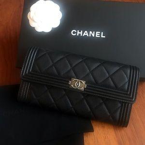 Chanel Gusset Flap Boy Wallet